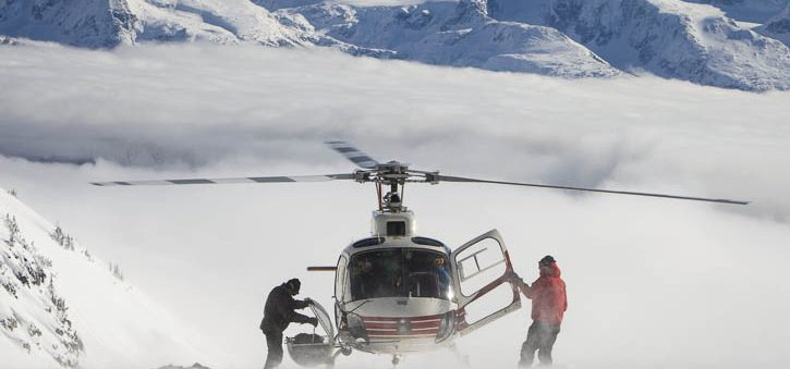 Heli-skiing in British Columbia