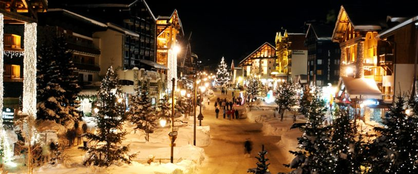 Val d'Isere during the Christmas holidays