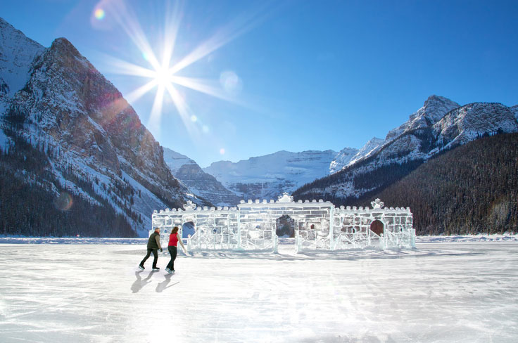 Lake Louise - one of the best places to ski in Alberta