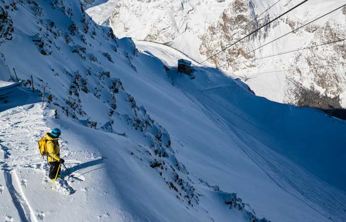 Freeriding in Courmayeur © Lorenzo Belfrond