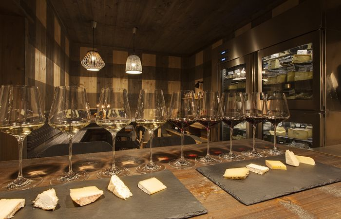 The Cheese room at the Hotel Ciasa Salares