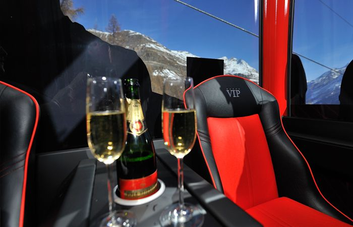Enjoy a glass of bubbly in the VIP Gondola