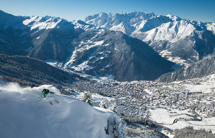 Verbier views deep powder