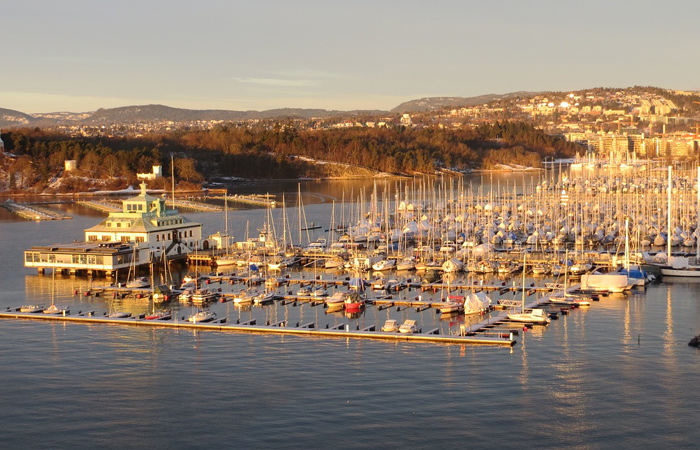 Oslo-Harbour-at-Sunset