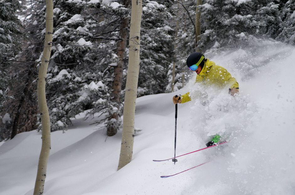 Tree skiing in Steamboat