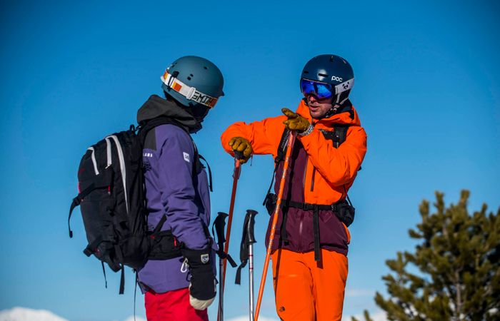 ski instructor giving advice