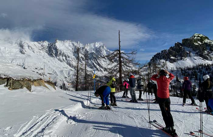 Skiing in Courmayeur