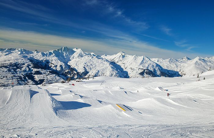 View from snow park in Les Arcs