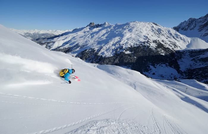 Largest ski areas in France